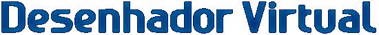 desenhador logo texto azul